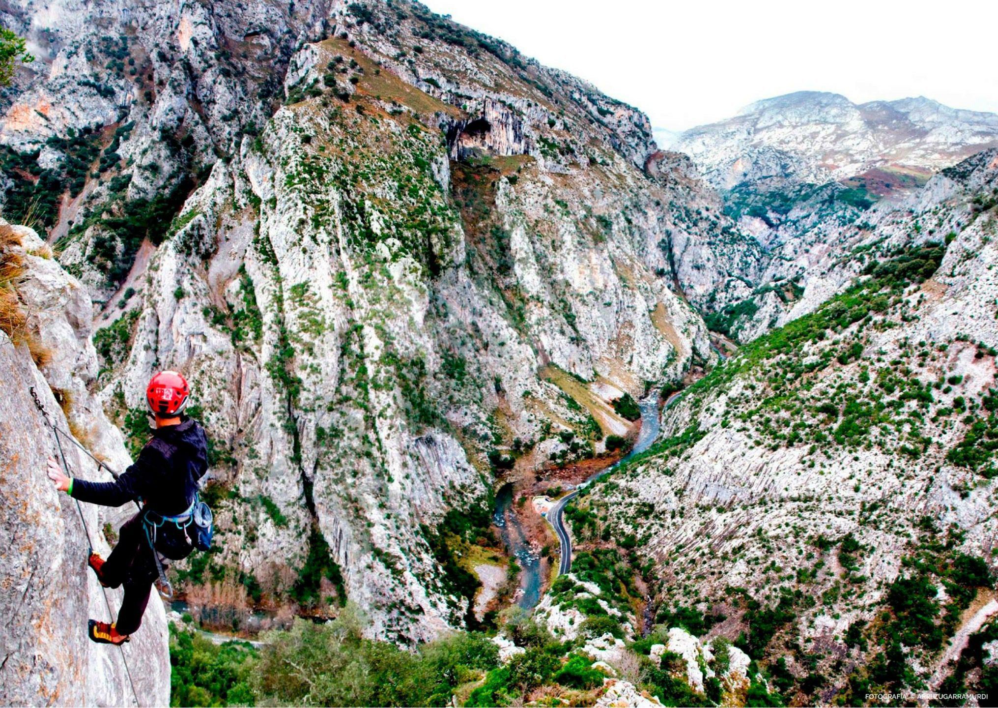 Vía ferrata en Picos de Europa